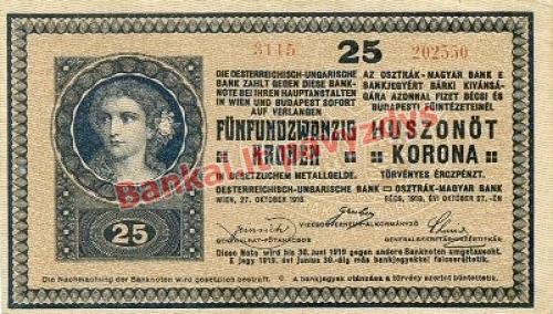 25 Koronų banknoto priekinė pusė