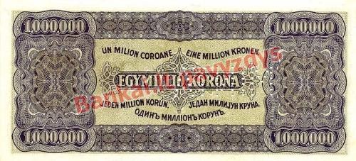 1000000 Koronų banknoto galinė pusė