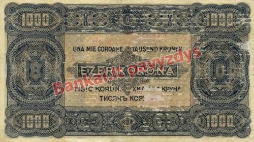 1000 Koronų banknoto galinė pusė