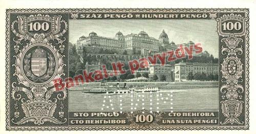 100 Pengų banknoto galinė pusė