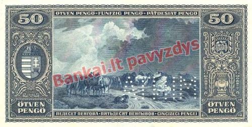 50 Pengų banknoto galinė pusė