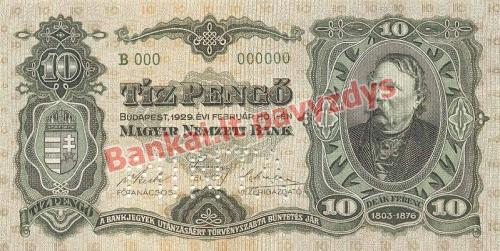 10 Pengų banknoto priekinė pusė