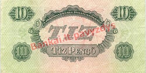 10 Pengų banknoto galinė pusė