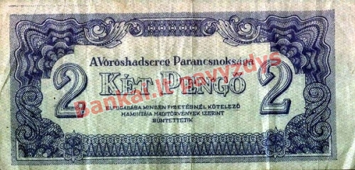 2 Pengų banknoto priekinė pusė