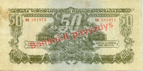50 Pengų banknoto priekinė pusė