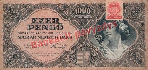 1000 Pengų banknoto priekinė pusė
