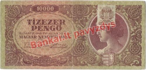 10000 Pengų banknoto priekinė pusė