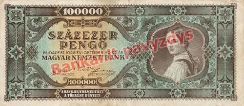 100000 Pengų banknoto priekinė pusė