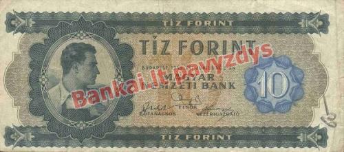 10 Forintų banknoto priekinė pusė