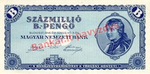 100000000 banknoto priekinė pusė