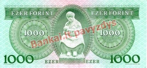 1000 Forintų banknoto galinė pusė