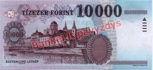 10000 Forintų banknoto galinė pusė