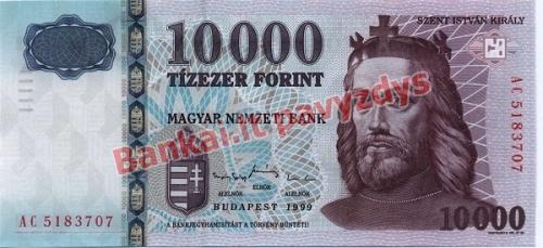 10000 Forintų banknoto priekinė pusė