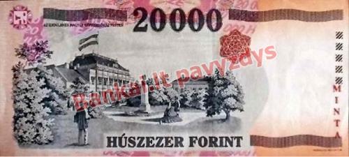 20000 Forintų banknoto galinė pusė