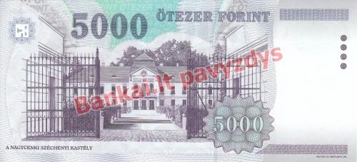 5000 Forintų banknoto galinė pusė