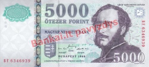 5000 Forintų banknoto priekinė pusė