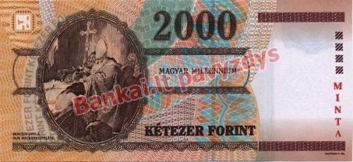 2000 Forintų banknoto galinė pusė