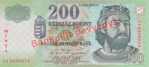 200 Forintų banknoto priekinė pusė