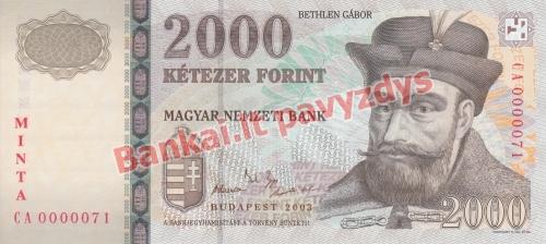 2000 Forintų banknoto priekinė pusė