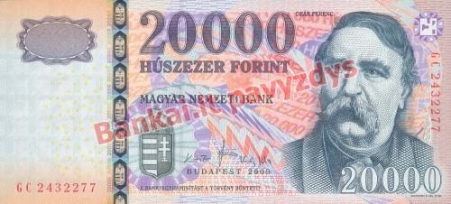 20000 Forintų banknoto priekinė pusė