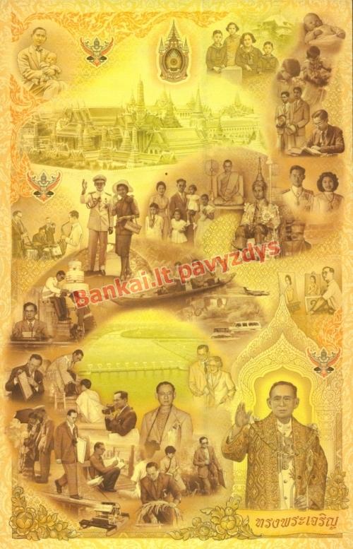 1510 Bahtų banknoto galinė pusė
