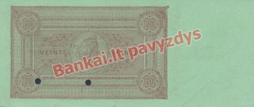 20 Centisimų banknoto galinė pusė