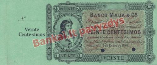 20 Centisimų banknoto priekinė pusė