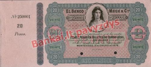 20 Pesų banknoto priekinė pusė