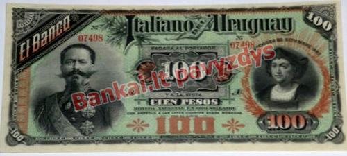 100 Pesų banknoto priekinė pusė