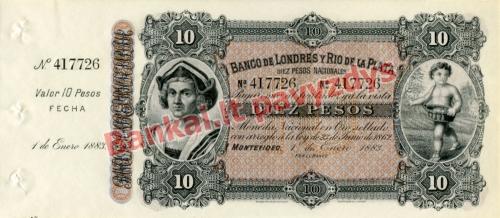 10 Pesų banknoto priekinė pusė