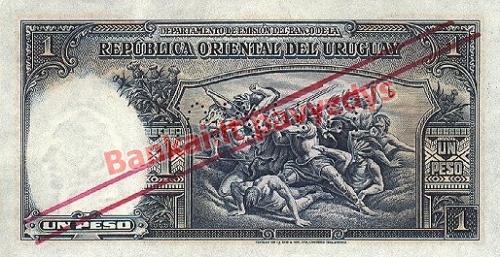 1 Peso banknoto galinė pusė