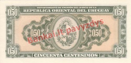 50 Centisimų banknoto galinė pusė