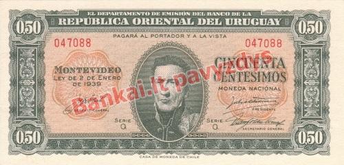 50 Centisimų banknoto priekinė pusė