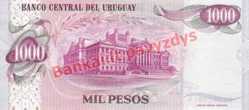 1000 Pesų banknoto galinė pusė