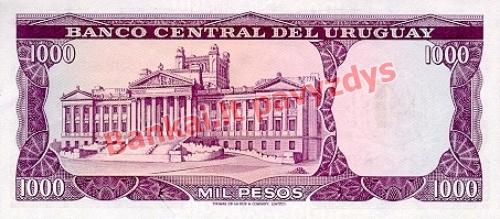 1 Nuevo Pesų banknoto galinė pusė