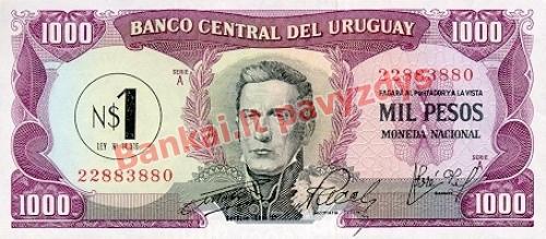 1 Nuevo Pesų banknoto priekinė pusė