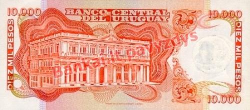 10 Nuevo Pesų banknoto galinė pusė