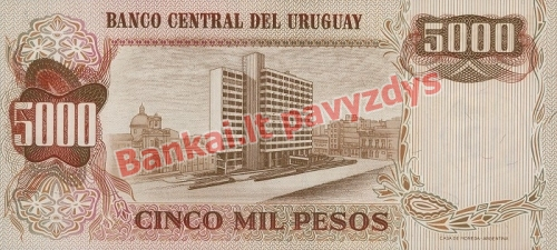 5 Nuevo Pesų banknoto galinė pusė