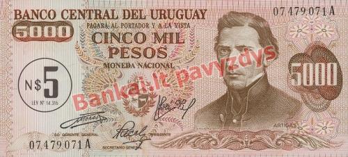 5 Nuevo Pesų banknoto priekinė pusė