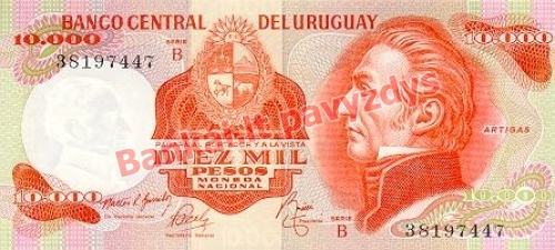 10000 Pesų banknoto priekinė pusė