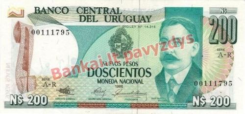 200 Nuevo Pesų banknoto priekinė pusė