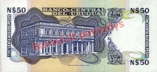 50 Nuevo Pesų banknoto galinė pusė