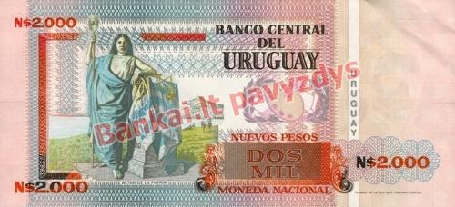 2000 Nuevo Pesų banknoto galinė pusė