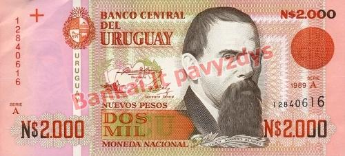 2000 Nuevo Pesų banknoto priekinė pusė