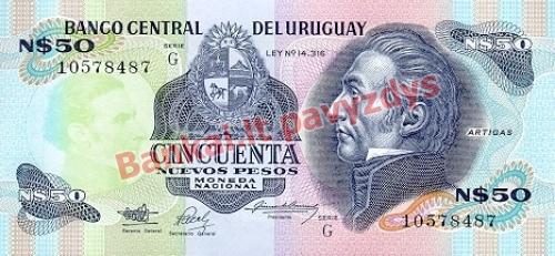 50 Nuevo Pesų banknoto priekinė pusė