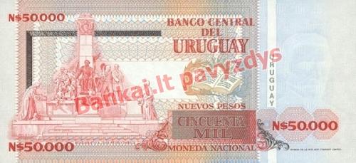 50000 Nuevo Pesų banknoto galinė pusė