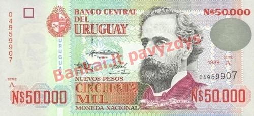 50000 Nuevo Pesų banknoto priekinė pusė