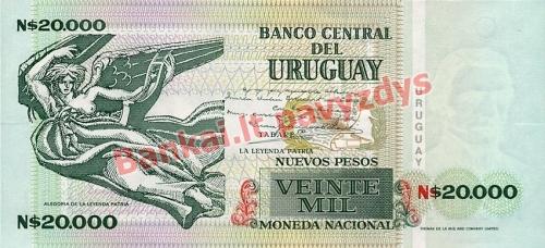 20000 Nuevo Pesų banknoto galinė pusė