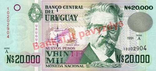 20000 Nuevo Pesų banknoto priekinė pusė