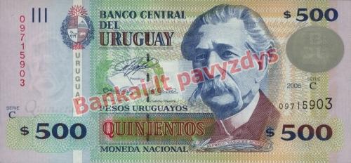 500 Pesų banknoto priekinė pusė